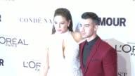 Ashley Graham Joe Jonas at Glamour's 2016 Women of the Year at NeueHouse Hollywood on November 14 2016 in Los Angeles California