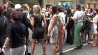Ashley Greene arrives at Fashion Week in New York 09/15/11