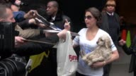Ashley Judd greets fans as she departs Good Morning America 03/15/12 in Celebrity Sightings in New York