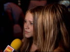 Ashley Olsen at the 'N Sync Celebrity Album Party at Moomba in West Hollywood California on July 23 2001