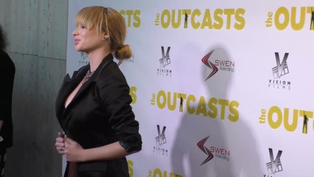 Ashley Rickards at the Premiere Of Swen Group's 'The Outcasts' on April 13 2017 in Los Angeles California