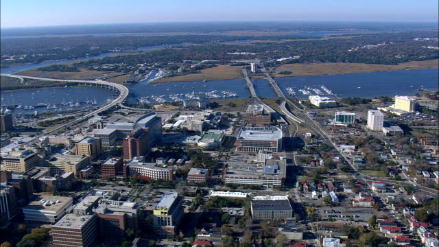 Ashley River Near Middleton Place  - Aerial View - South Carolina,  Charleston County,  United States