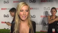 Ashley Tisdale on being a part of the night what she appreciates about Teen Vogue what DG does well what Young Hollywood represents on this being her...