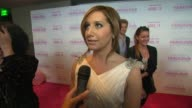Ashley Tisdale on her dress on the film at the Release Of Her New Film 'Sharpay's Fabulous Adventure'