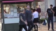 Ashton Irwin shopping at The Grove in Hollywood in Celebrity Sightings in Los Angeles