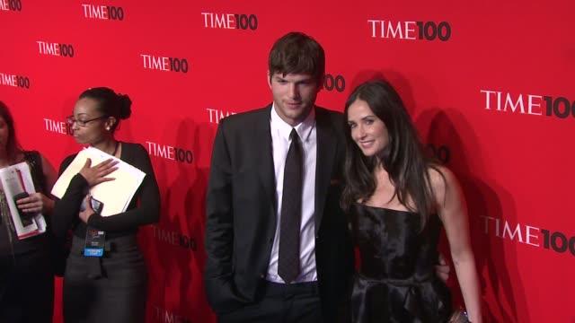 Ashton Kutcher and Demi Moore at the 2010 Time 100 Gala at New York NY