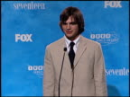 Ashton Kutcher at the 1999 Teen Choice Awards at Barker Hanger in Santa Monica California on August 1 1999