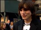 Ashton Kutcher at the 1999 TV Guide Awards entrances at Fox Studios in Century City California on February 1 1999