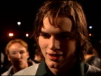 Ashton Kutcher at the 'Varsity Blues' Premiere at Paramount Lot in Hollywood California on January 7 1999