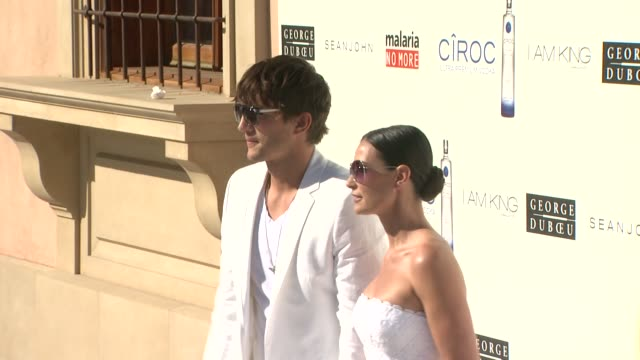 Ashton Kutcher Demi Moore at the The White Party at Los Angeles CA