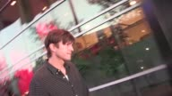 Ashton Kutcher greets fans at Staples Center in Los Angeles 04/03/12 Ashton Kutcher greets fans at Staples Center in Lo on April 03 2012 in Los...