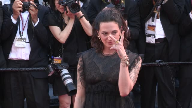 Asia Argento on the red carpet of the Opening ceremony of the 70th Cannes Film Festival on May 17 2017 in Cannes France
