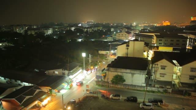 Asia Building di notte, time lapse