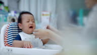 Asian Baby refused to eat (6-11 months) at dining table