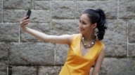 Asian businesswoman with smartphone