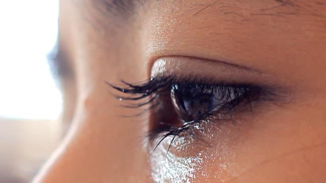 Asian girl cry