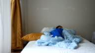 asian little girl sleeping
