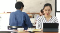 asian people working in restaurant