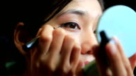 Asian woman eye make up