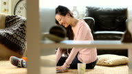 Asian Woman web surfing