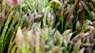 Asparagus on street market