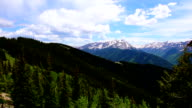 Aspen Wilderness National Forest Land Time-Lapse of Epic Elk Mountain Valley on Top Aspen Ski Resort