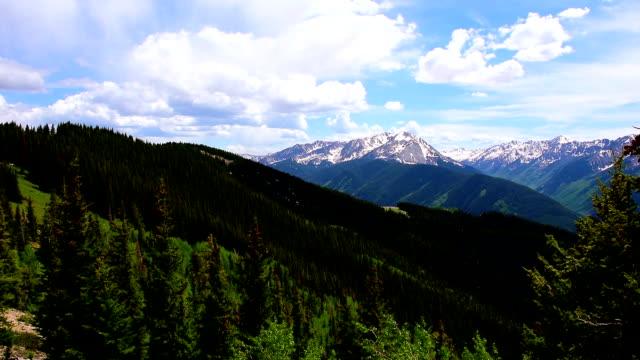 Aspen Wildnis National Forest Land Zeitraffer von Epic Elk Mountain Valley oben Aspen Ski Resort