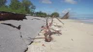 4K DOLLY : Asphalt roads damaged