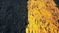 Asphalt speed with yellow driving line