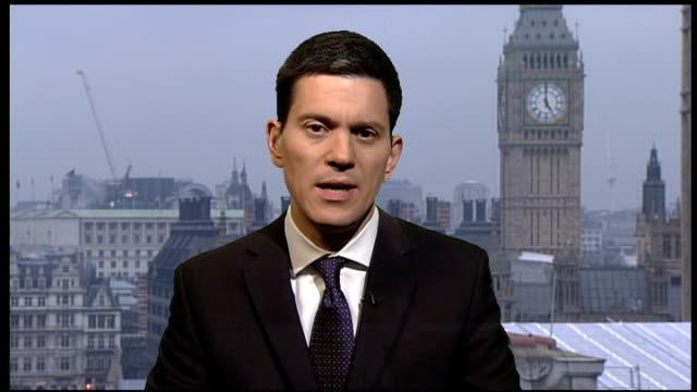 Assassination of Hamas commander in Dubai / British passport row Britain expels Israeli diplomat ENGLAND London GIR INT David Miliband MP 2WAY...