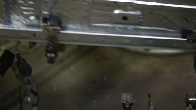 HD Assembling car body close-up