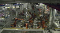WS PAN Assembly line robots working at BWN car plant / Munich, Bavaria, Germany