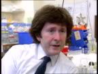 New breakthrough LA CMS Dr Julian Hopkin BV Hopkin looking at genetic outline on CS Detail of genetic outline Dr Julian Hopkin intvwd SOF We hope to...