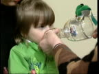 Predicting attacks LIB Young child given dose of asthma medicine through large transparent inhaler
