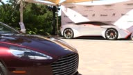 Aston Martin DP100 Vision Gran Turismo model on display at the Pebble Beach Concours dElegance Car Show in Pebble Beach California US on August 15...