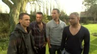 Aston Merrygold Oritse Williams Marvin Humes Jonathan 'JB' Gill on living the dream at the JLS Interview at Sandwich England