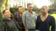 Aston Merrygold Oritse Williams Marvin Humes Jonathan 'JB' Gill on working with Jenson Button on the Walkers commercial they had just shot at the JLS...
