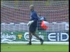 David James denies move LIB ENGLAND Birmingham Villa Park Aston Villa amp England goal keeper David James in goal during training session James along