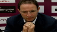 Stiliyan Petrov and Martin O'Neill press conference Martin O'Neill press conference SOT On success of getting through to group stages of Uefa Cup /...