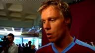 interviews ENGLAND Birmingham INT Martin Laursen interview SOT Nigel ReoCoker interview SOT