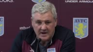 Aston Villa manager Steve Bruce holds a press conference ahead of his side's SkyBet Championship match at Rotherham