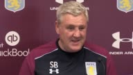 Aston Villa manager Steve Bruce holds a press conference ahead of Saturday's SkyBet Championship match against Derby