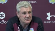Aston Villa manager Steve Bruce holds a press conference ahead of their SkyBet Championship match at Wigan on Saturday Full press conference