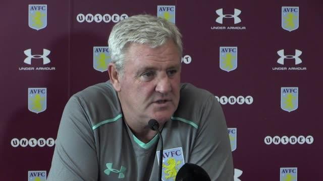 Aston Villa manager Steve Bruce speaks ahead of Friday's Championship match against Bristol City