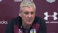 Aston Villa manager Steve Bruce speaks ahead of his side's SkyBet Championship match at home to Sheffield Wednesday on Saturday