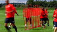Aston Villa training More of Aston Villa players training on pitch including Gardner ReoCoker Maloney Davies Laursen Carew Stilian Petrov
