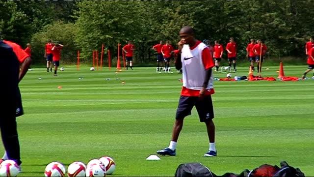 Aston Villa training More of Aston Villa players training on pitch including Gardner Laursen ReoCoker Knight Carew Davies Young Maloney
