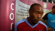 Birmingham EXT Martin Laursen John Carew Nigel ReoCoker Ashley Young and Gabriel Agbonlahor plus other Aston Villa members in training session John...