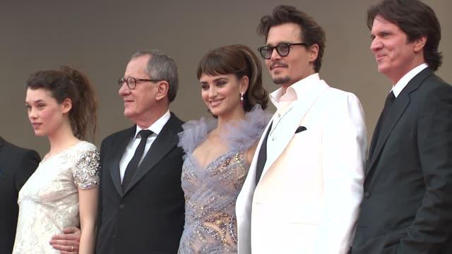 Astrid BergesFrisbey Geoffrey Rush Penelope Cruz Johnny Depp Rob Marshall at the Pirates of the Caribbean On Strange Tides 64th Cannes Film Festival...