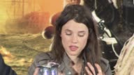 Astrid BergesFrisbey on filming location and more at the Pirates of the Caribbean On Stranger Tides Press Conference at London England